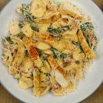 Pasta met ricotta en spinazie