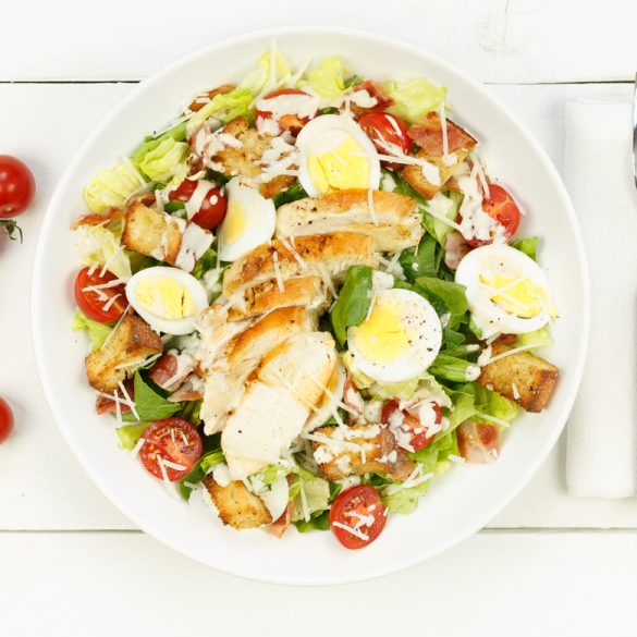 Caesarsalade met kip en croutons