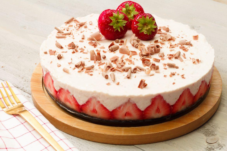 oreo aardbeientaart - desserts en taarten recept | smaakmenutie