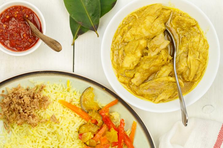 Ajam opor (Indische kip)