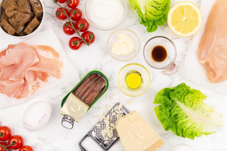 Caesarsalade ingrediënten
