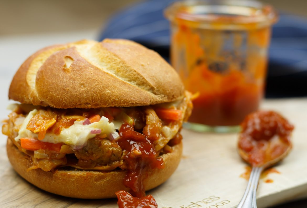 Broodje pulled chicken