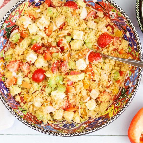 Couscous salade met gerookte kip