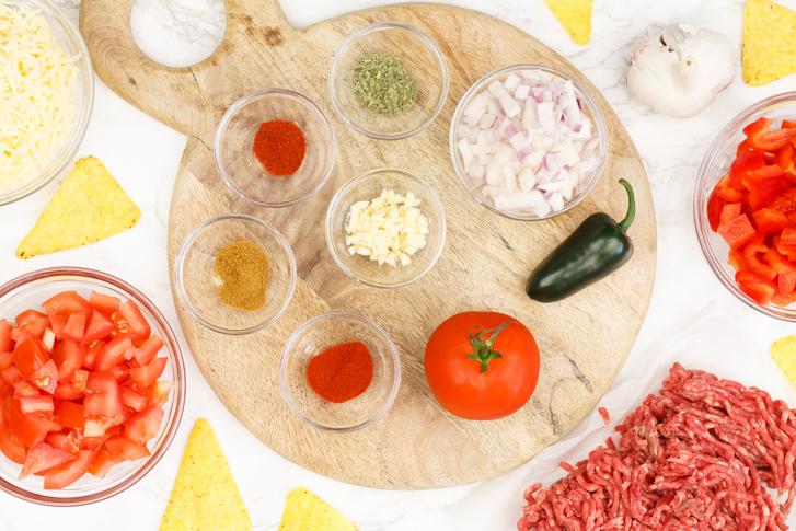 Nacho's uit de oven ingrediënten