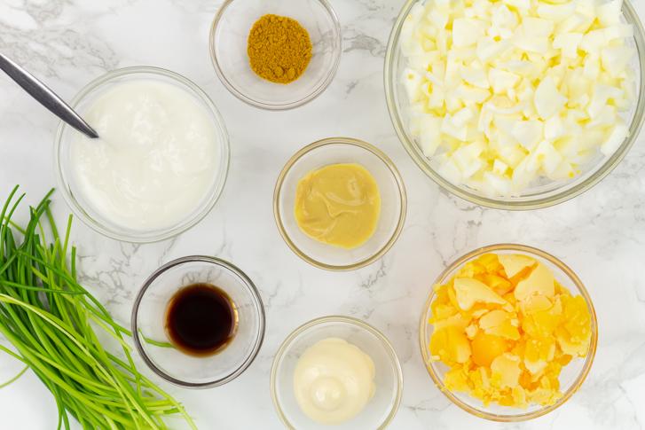 Eiersalade ingrediënten