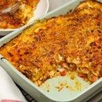 Zelfgemaakte lasagne met bechamelsaus