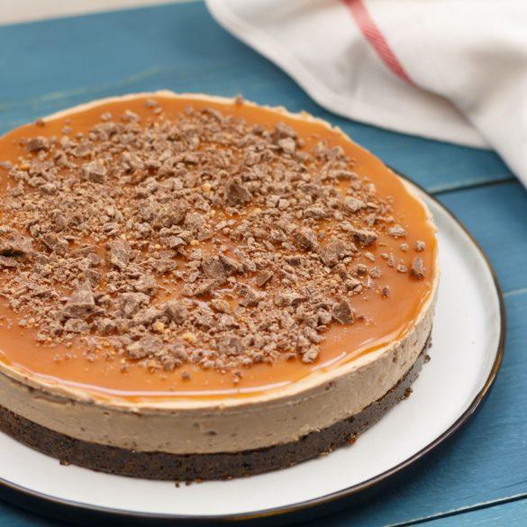 Tony's Chocolonely karamel-zeezout NY cheesecake