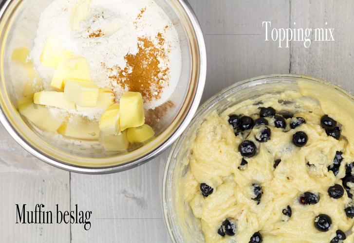Blueberry muffins maken