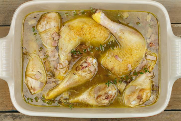 Kip witte wijnsaus recept