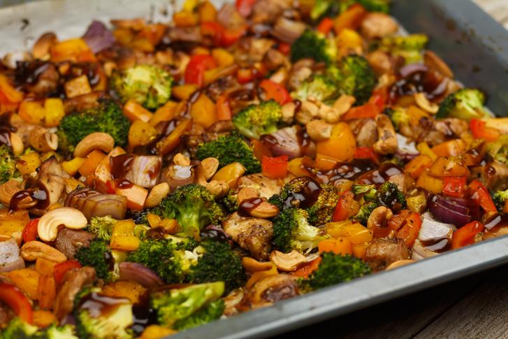 Oosterse ovenschotel kip met groenten recept