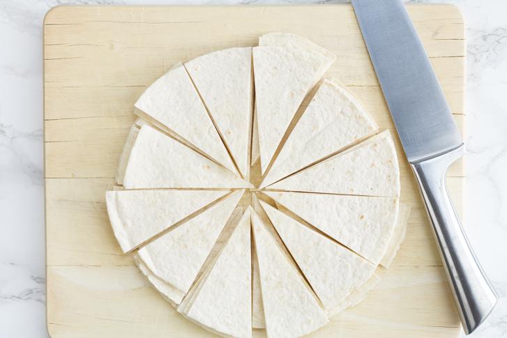 Gesneden tortilla's