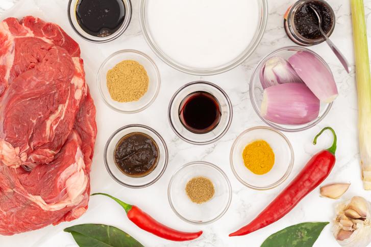 Daging roedjak ingrediënten
