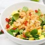 Garnalen(salade) met zoet-pittige mangodressing