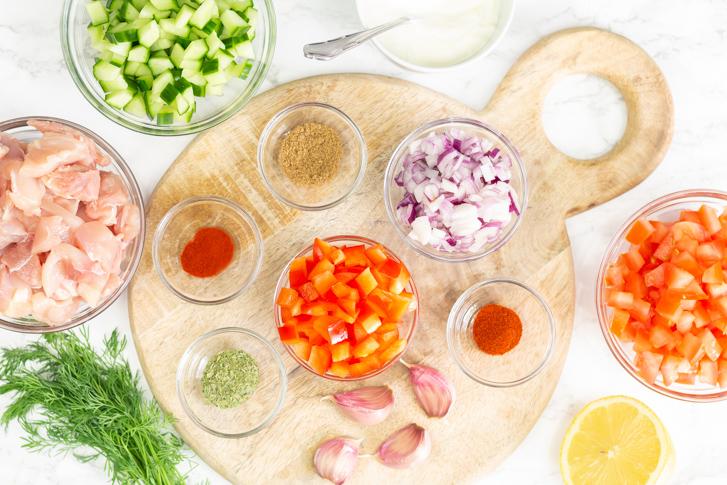 Kip gyros ingrediënten
