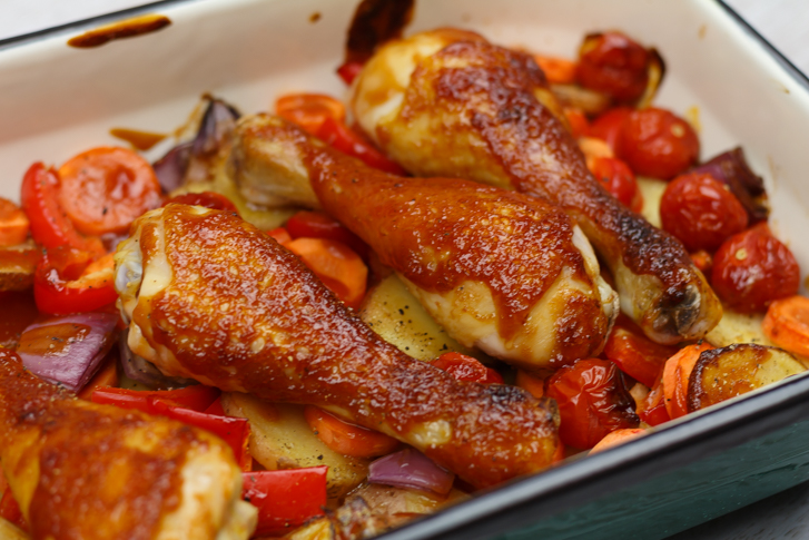 Ovenschotel sticky chicken