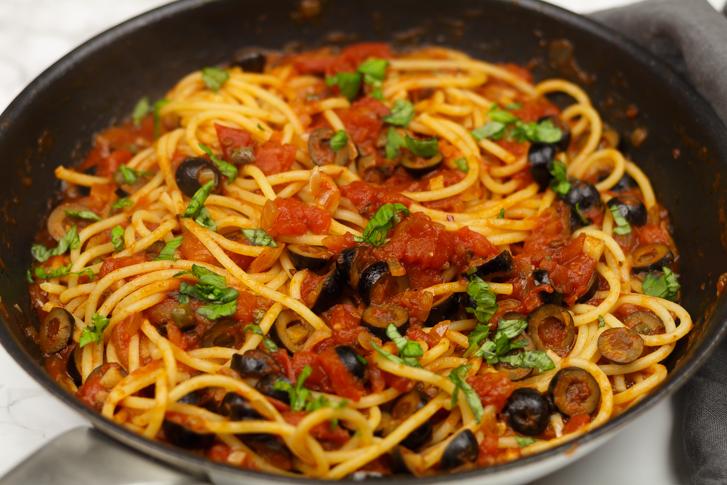 Spaghetti alla puttanesca receptSpaghetti alla puttanesca recept