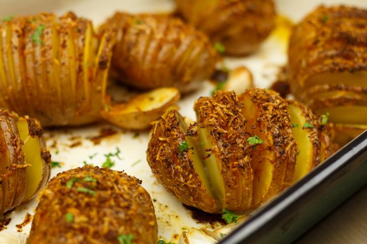 Aardappels met Parmezaanse kaas