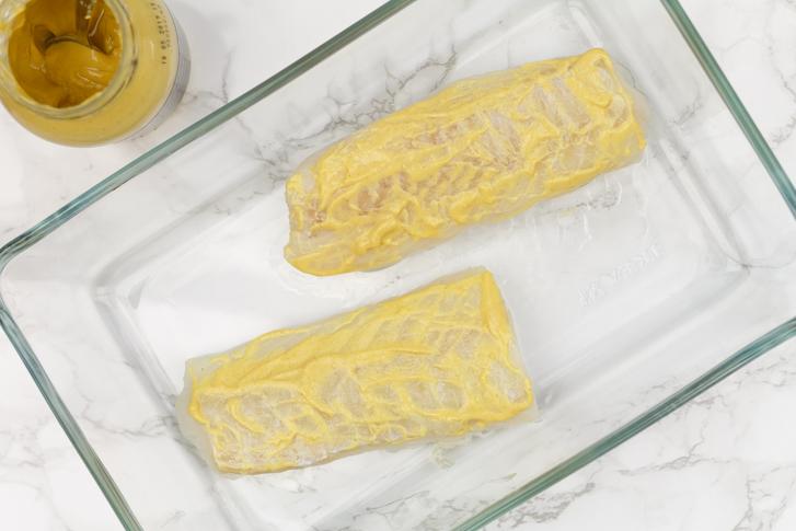 Kabeljauw met mosterd