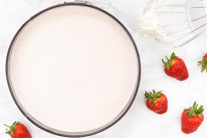 Cheesecake met aardbeien
