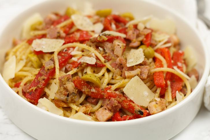 Spaghetti met olijventapenade