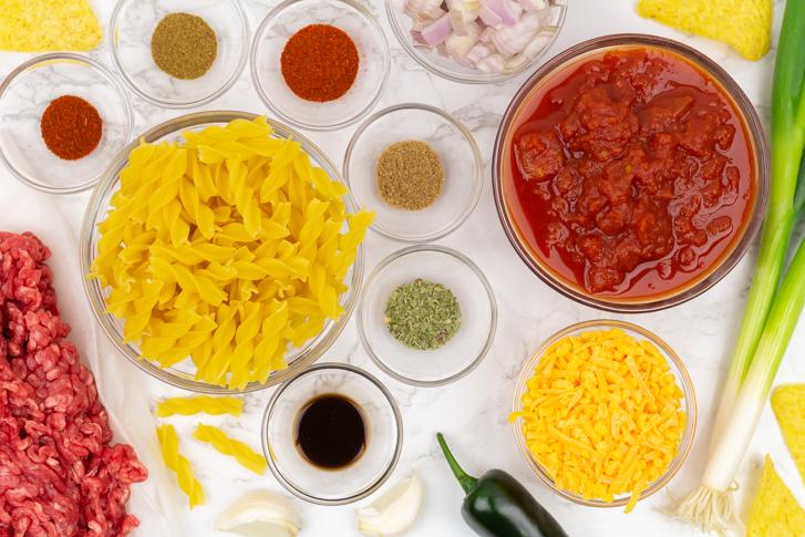 Mexicaanse pasta ingrediënten
