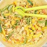 Thaise salade met pindadressing