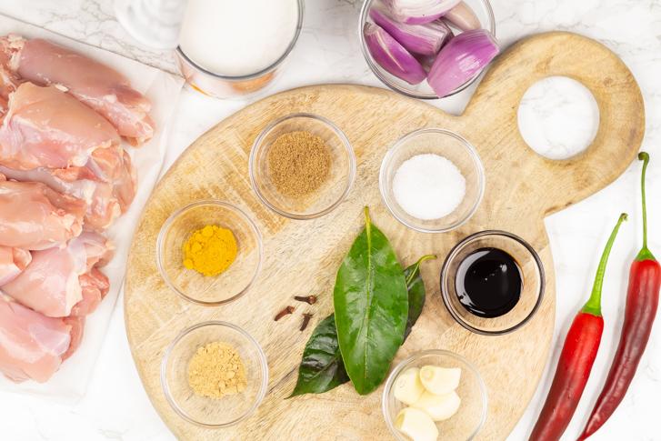Rendang kip ingrediënten