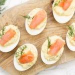 Gevulde eieren met zalm