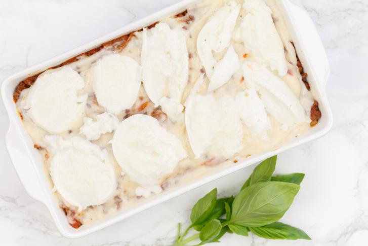 Mozzarelle lasagne al forno