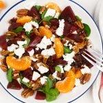 Rode bieten salade met geitenkaas