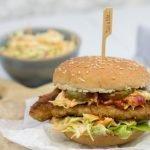 Broodje kipschnitzel met coleslaw