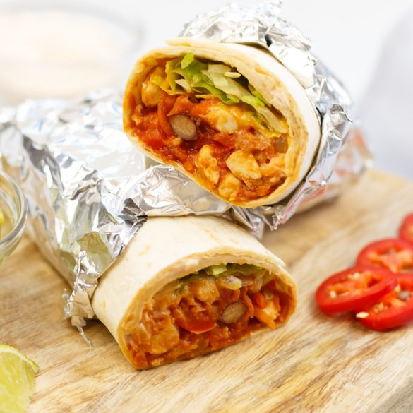 Mexicaanse burrito met kip
