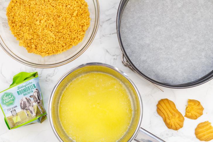 Ingrediënten bodem cheesecake