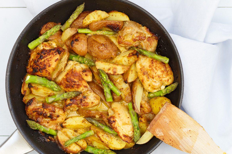 eenpansgerecht met kip maken