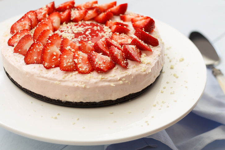 Aardbeien cheesecake recept