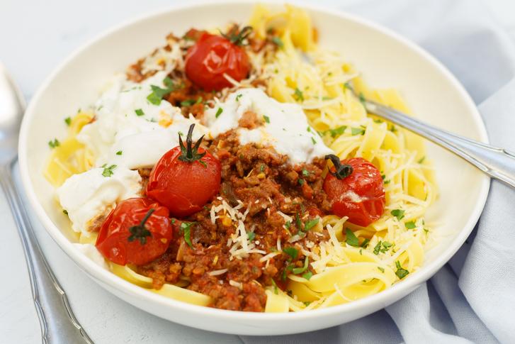 Pasta chorizo Bolognese