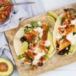 Fish taco's met limoensaus