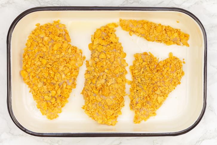 Krokante kip uit de oven