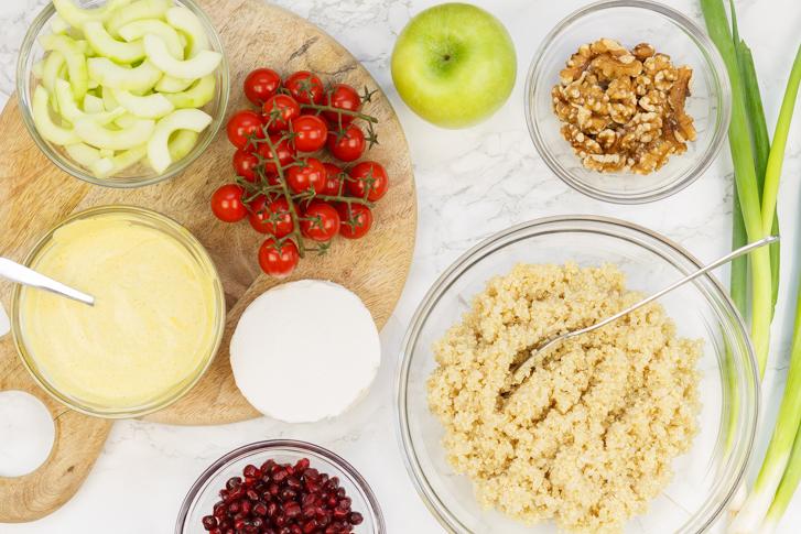 Ingrediënten quinoa salade