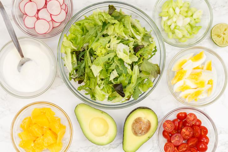 Ingrediënten salade