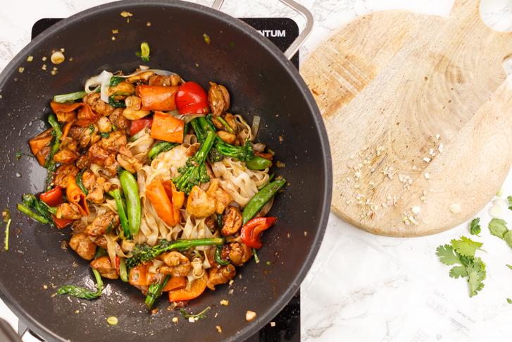 Aziatische groente wokken