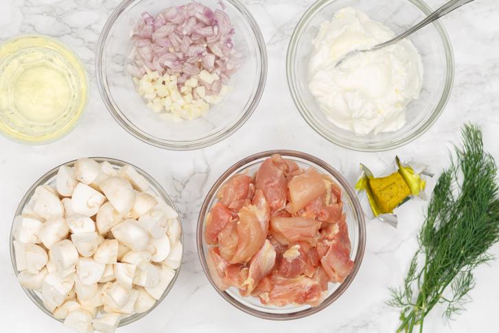 Kip met champignons recept