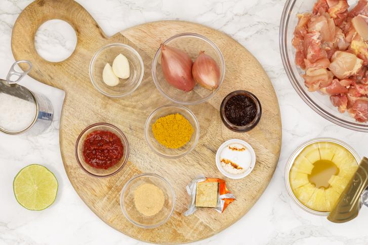 Kip kerrie ingrediënten