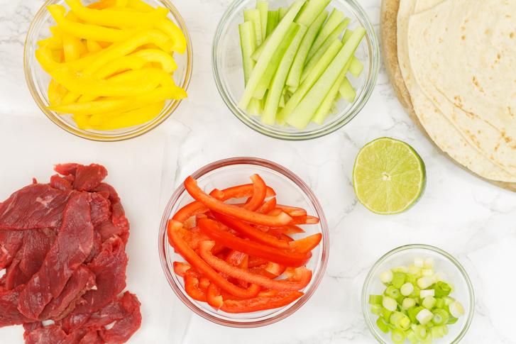 Aziatische wrap ingrediënten