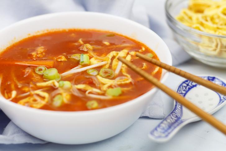 Zelfgemaakte Chinese tomatensoep