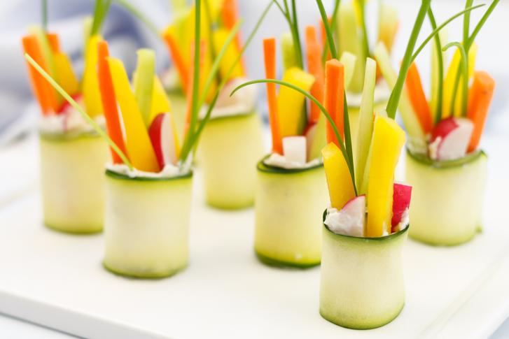 Vegetarische groenterolletjes
