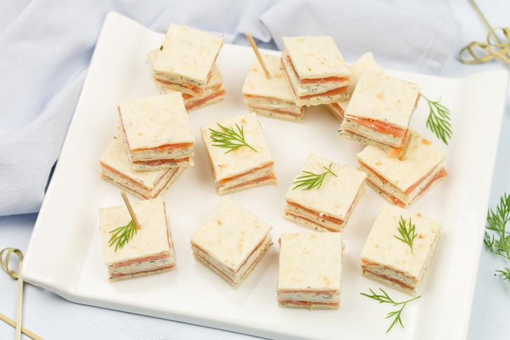 Mini sandwiches zalm