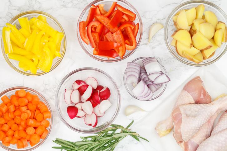 Ingrediënten Provençaalse ovenschotel