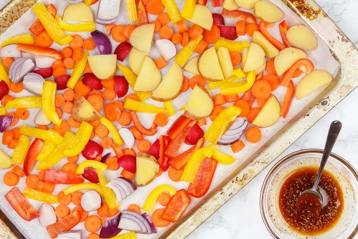 Ovenschotel groenten met Provençaalse kruiden