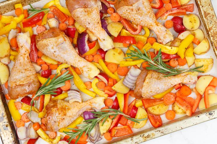 Ovenschotel met kip en groenten